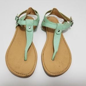 Seychelles  Embossed Leather Thong Sandal 6.5